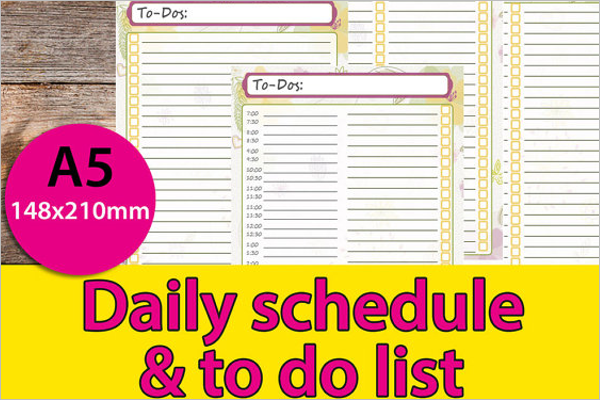 A5Daily To Do List Template