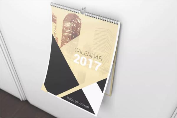 Abstract Wall Calendar MOCKUP