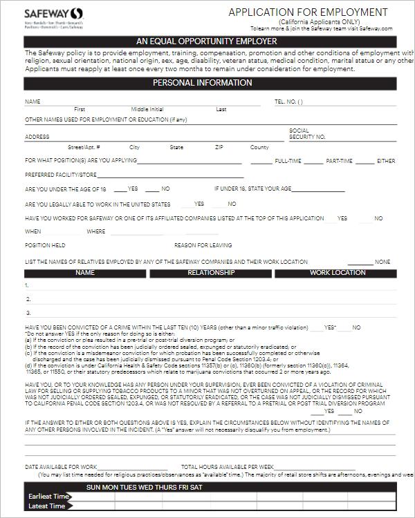 Acceptance Application Letter For Job