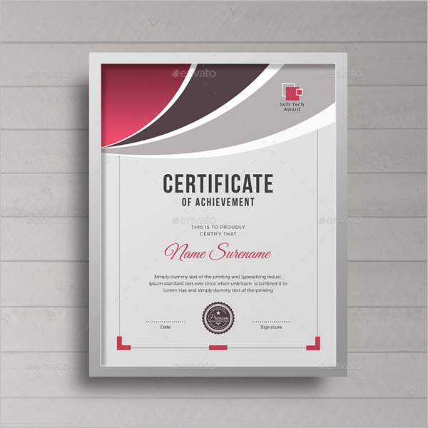 Achievement Certificate Design