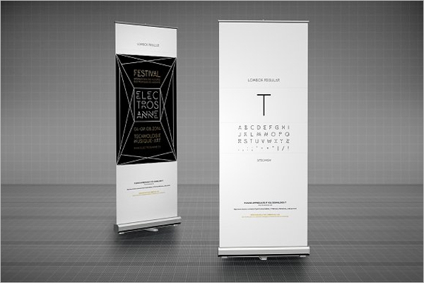 Advertising Banner Mockup Design