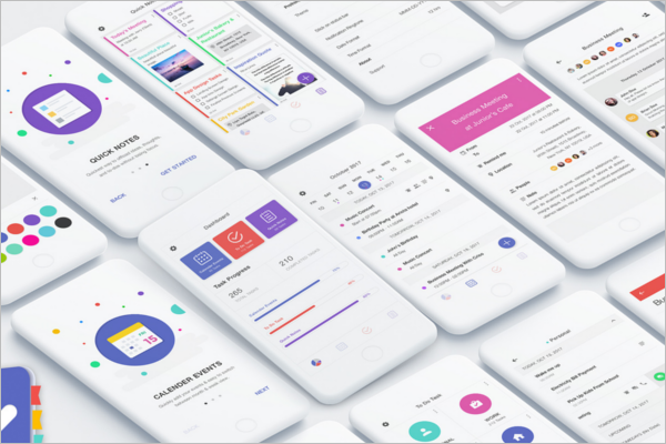 Android App Design PSD Template