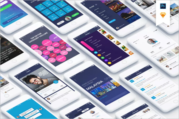 Android App Design Template XML