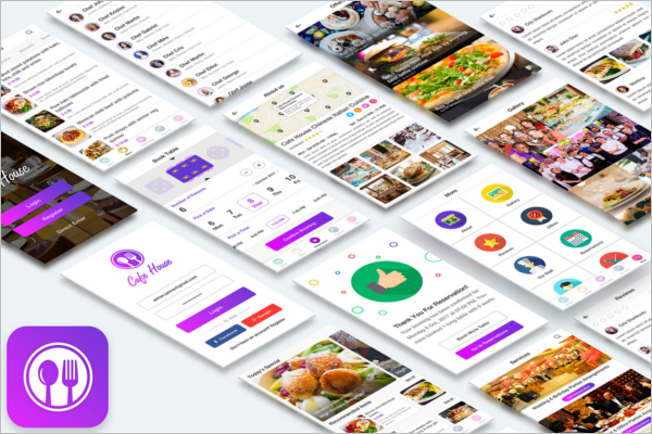 Android Food App Design Template