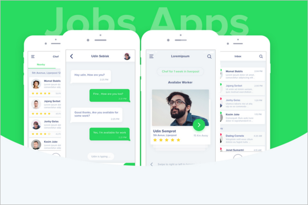 Android Job App Design Template