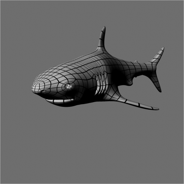 Animated 3D Shark Model