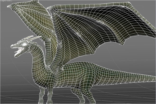 Animated Dragon 3D Design