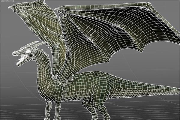 Animated Dragon 3D Design