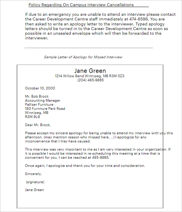 27+ Free Apology Letter Formats PDF, Word Samples - Creative