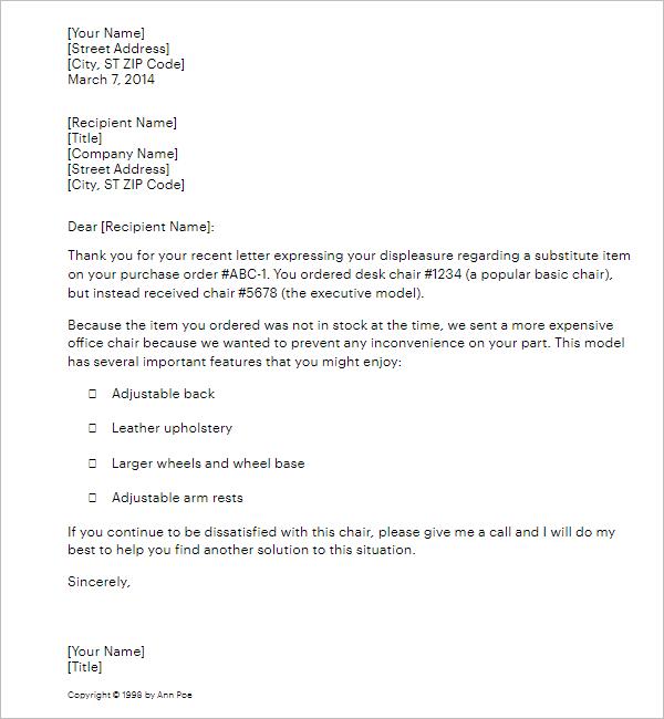 Apology Letter Format For Misbehavior