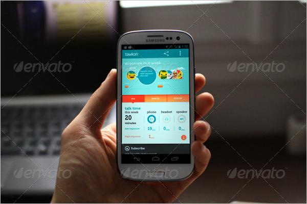 App Design Template ForAndroid Mobile