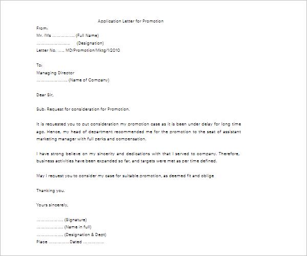 Application For Job Offer Letter