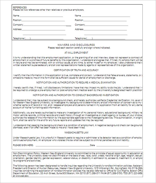 Application Letter For Fresher