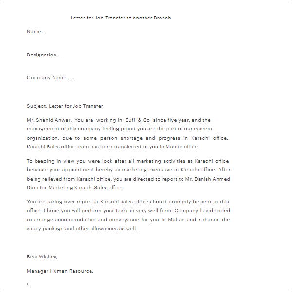 Application Letter For Leave