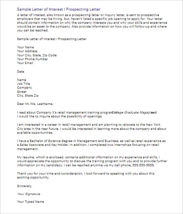 Application Letter Free Doc
