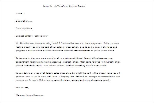 job application letter sample pdf free download