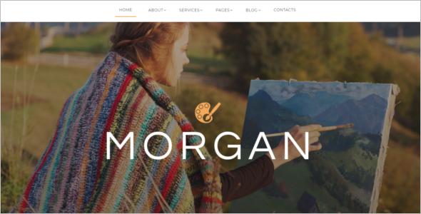 Artist Portfolio Website Template
