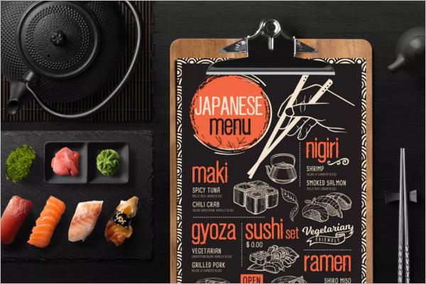 Asian Food Menu Design Template