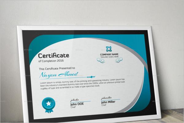 Award WiningCertificate Design