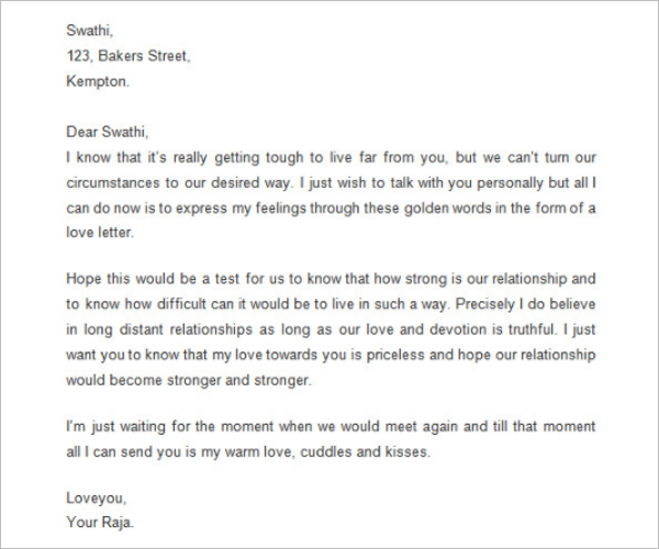 Awesome Love Letter Template