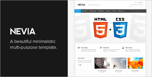 Awesome Responsive HTML5 Template
