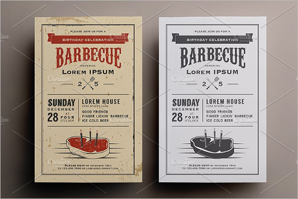 Babiecue Invitation Template