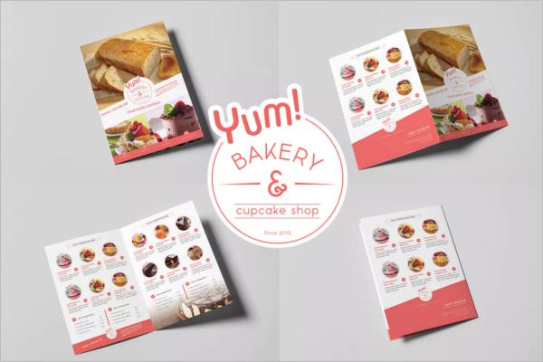 Bakery Food Menu Design Template