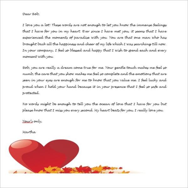 Bangla Love Letter Template