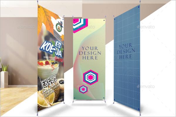 Banner Mockup PSD Design