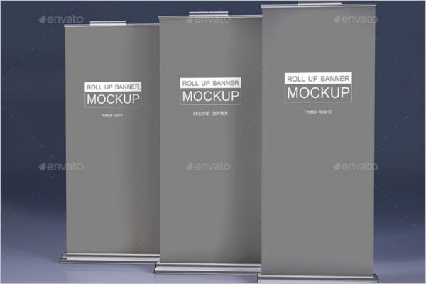 Banner Mockup Photoshop Design