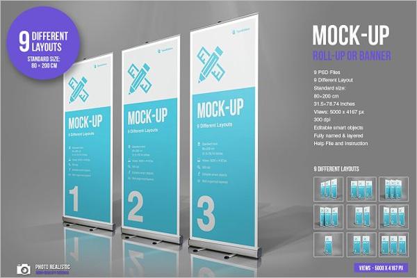 Banner Mockup Vector Design