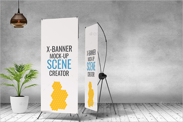 Banner Stand Scene Mockup
