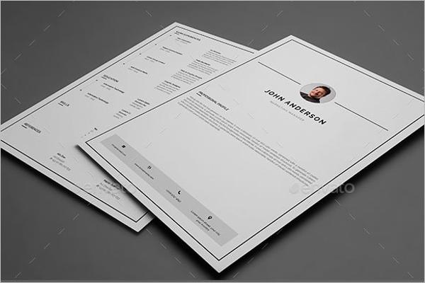 Basic CV Design Template