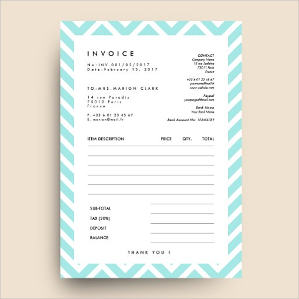 Basic Invoice HTML Template