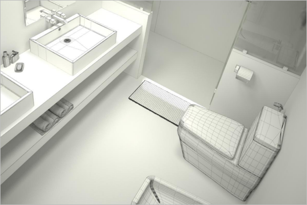 Bathroom Architecture 3D Design