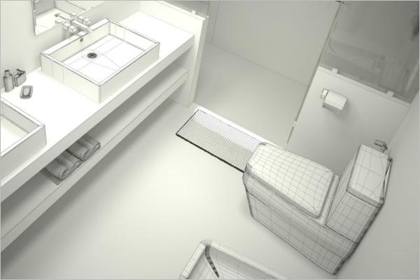 Bathroom Architecture 3D Design