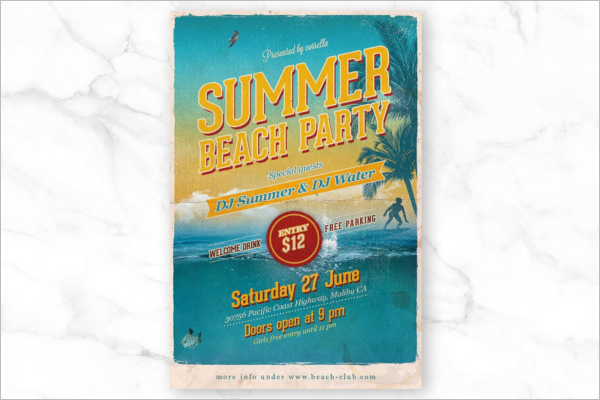 Beach Party Poster Background