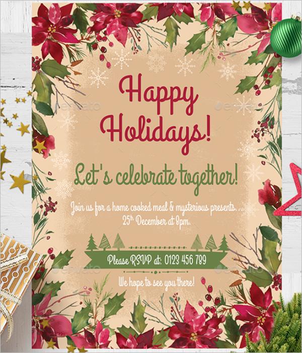 Beautiful Christmas Card Template