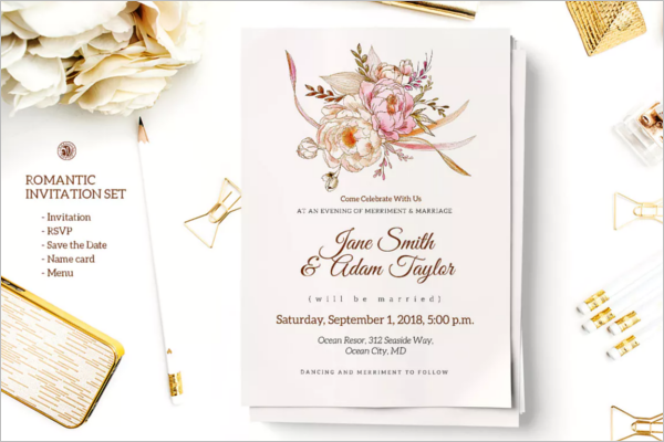 Beautiful Invitation Card Template