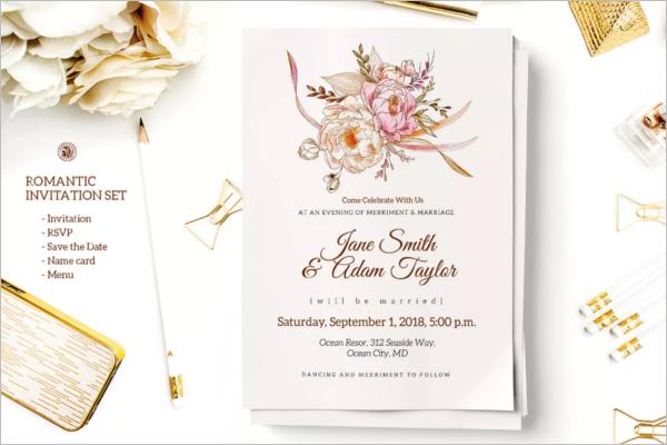 Beautiful Invitation Card Template