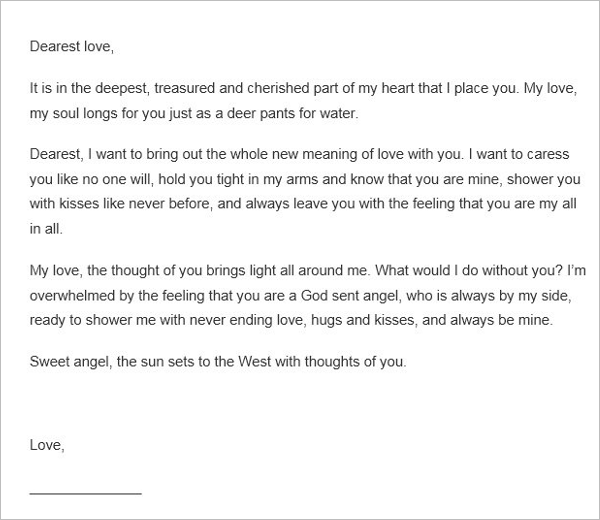 Beautiful Love Letter Template