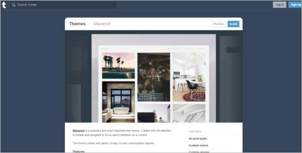 Beautiful Tumblr Theme