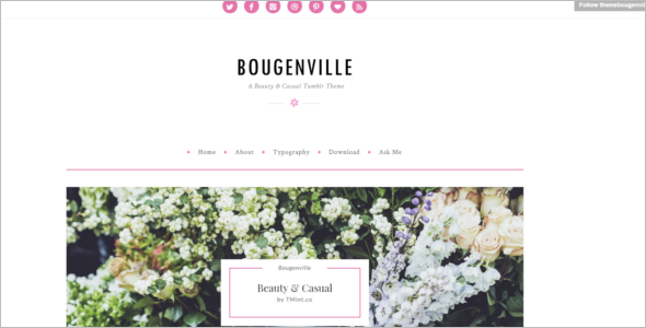 Beauty Tumblr Theme