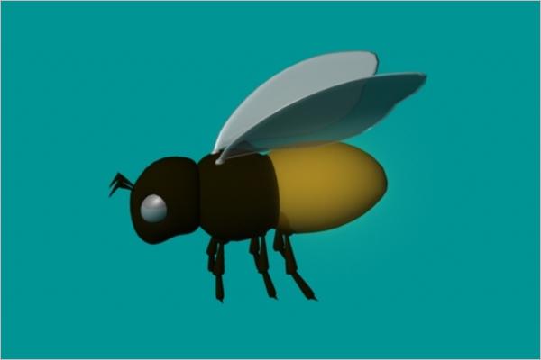 Bee 3D Model Design