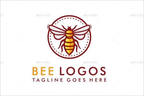 Bee Abstract Logo Design