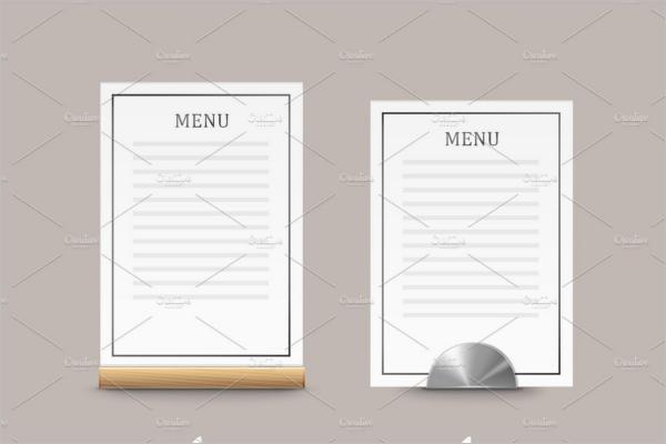 Best Cafe Menu Card Design