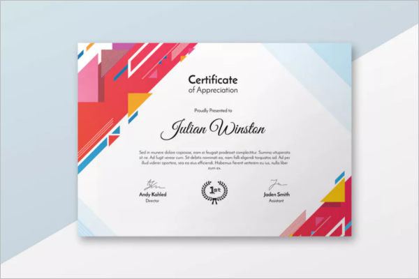 Best Certificate Design Template