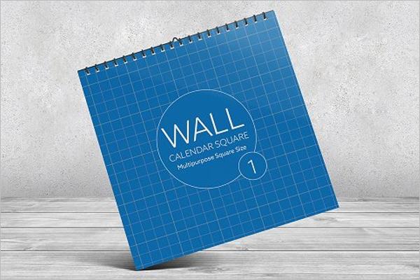 Best Wall Calendar Mockup Design