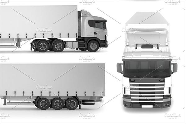 Big Truck Mockup Design