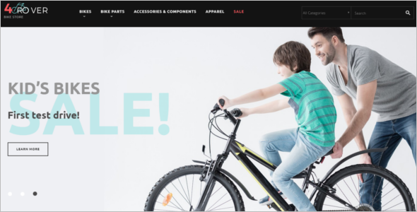 Bike Store PrestaShop Theme Design